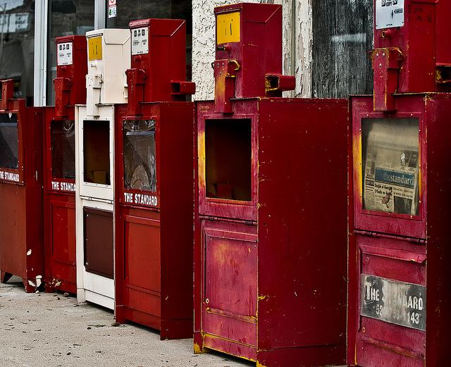 vintage newstand
