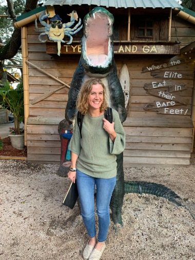 Watch out for the gator behind you